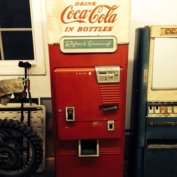 Vintage coca cola machine I just purchased  - Coca-Cola