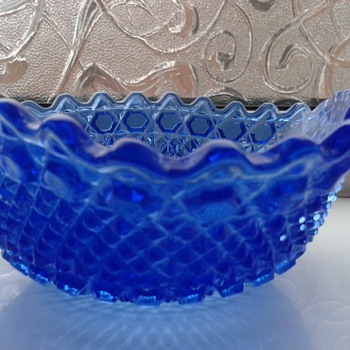 Lovely Bright Blue Glass ! Fenton !