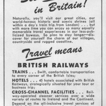 1948 - British Railways Advertisement - Advertising