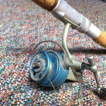 Columbian no. 61 rod with reel