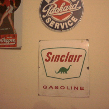 My garage....  Olds signs make it fun... Beware of the reproductions...