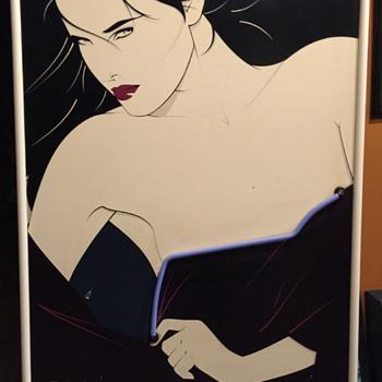 Rare Patrick Nagel Neon Playboy Portfolio II Poster