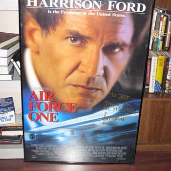 AIR FORCE ONE poster signed by superstar Harrison Ford