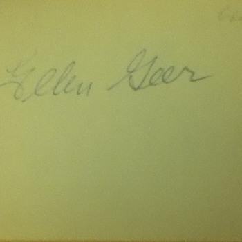 Ellen Geer Autograph