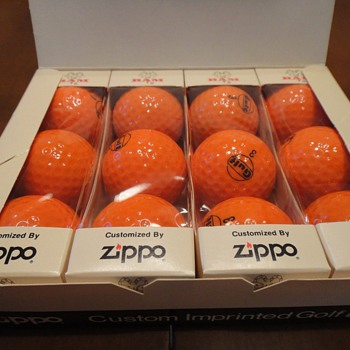 Gulf Oil golf balls made by Zippo