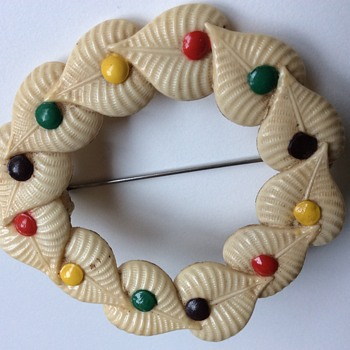 Fabulous celluloid brooch