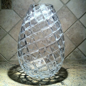 Cut Crystal Pineapple vase - Glassware
