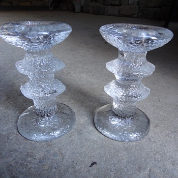 Pair of iittala Festivo candlesticks