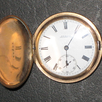 1912 D.E. Black Pocket Watch? Anyone know anything about it? - Pocket Watches