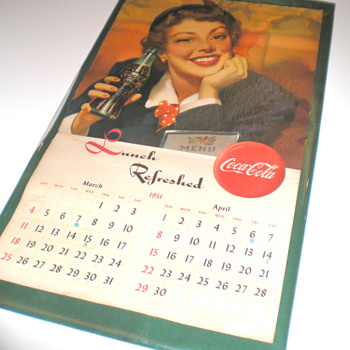 Coca-Cola Menu Girl Items - Coca-Cola
