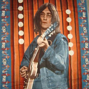 John Lennon tapestry - Music Memorabilia