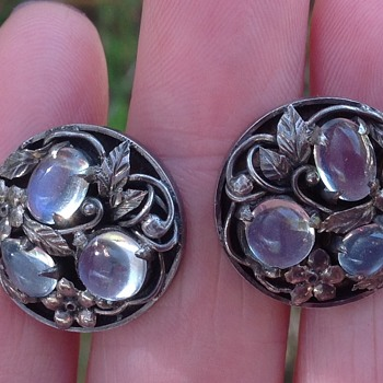 Bernard Instone Silver and Moonstones - Arts and Crafts