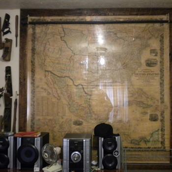 1857 Mitchells Map - Paper