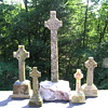 Green Marble Celtic Crosses from the Island of Iona, Scotland