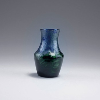 Loetz Blue and Green Titania Vase c.1906 - Art Glass