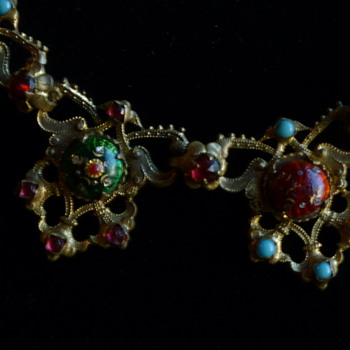 Enamel necklace