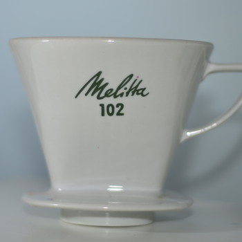 Melitta 102 porcelain coffee filter, FOUND