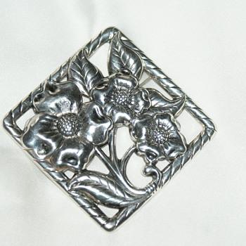 Large Danecraft Sterling Brooch - Fine Jewelry
