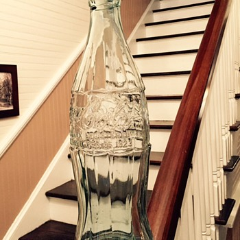 1937-1945 Glass Coca Cola Patent D Display Bottle