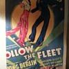 "Original 1936 (cut to fit art print) Movie Window Card ""Follow the Fleet"""