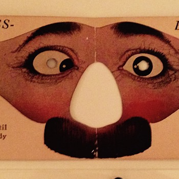 Vintage paper masks