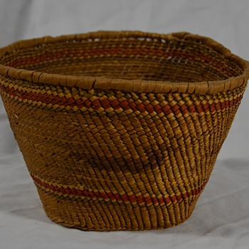 Native Basket with Bird Design - Native American