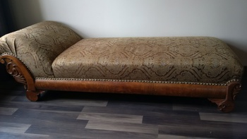 Newly re done fainting couch collectors weekly for Small fainting couch