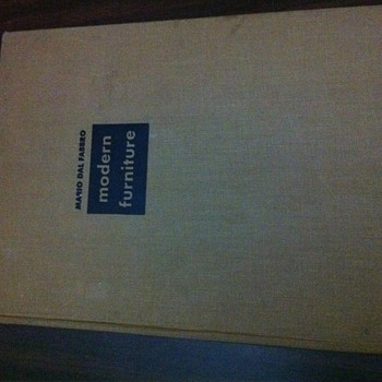 1949 Modern Furniture book by Mario Dal Fabbro