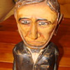 abraham lincoln wood sculpture W. M. Hole
