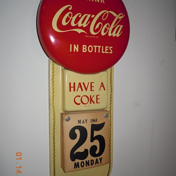 1950&#039;s Coca-Cola Calendar Sign