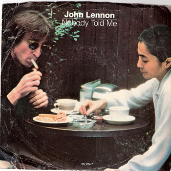 John Lennon 45 - Nobody Told Me/O&#039; Sanity - Good Condition