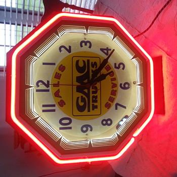 GMC Truck neon clock - Advertising