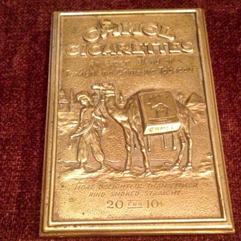 Solid Brass Camel Display Container - Tobacciana