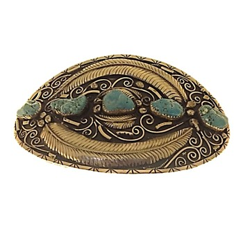 Huge Navajo Belt Buckle 1970's