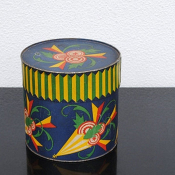 Old German Metal Art Tin, Early 1900s?   - Art Deco