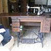 Treadle sewing machine & oil lamps