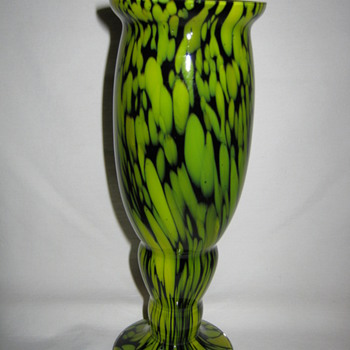 Czechoslovakia art glass vase Franz Welz - Art Glass