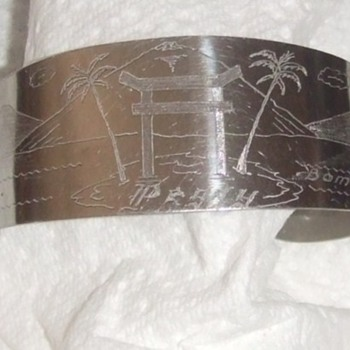 Atomic Bomb Group (509th) Trench Art Bracelet from WW2 - Military and Wartime