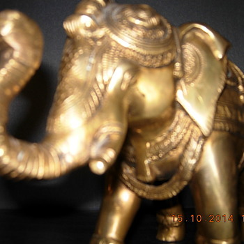 Pair of Brass Elephants  - Animals