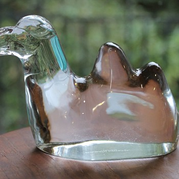 A glass Asian camel.....by Sasaki - Art Glass
