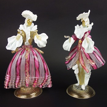 Murano Courtesan Figurines