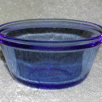 Blue Glass Custard Cups