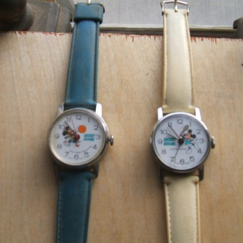 Two of the four 1978 Bradley sport series Mickey - Wristwatches