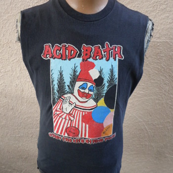 Very Rare Dated 1994 Acid Bath Shirt with Pogo the Clown (John Wayne Gacy) - Music
