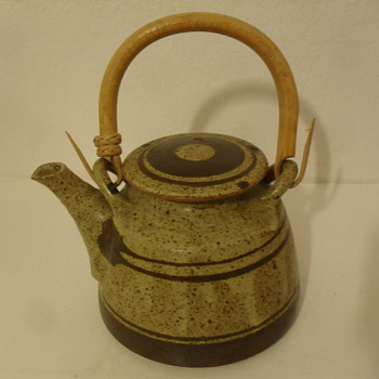 Fau pottery stoneware tea pot - Art Pottery
