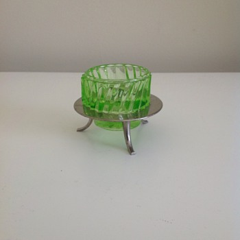 Depression glass salt dish