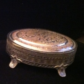 Vintage Silver trinket box marked Aurea