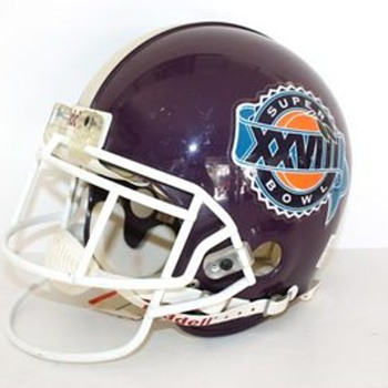 PURPLE?? XXVIII 1994 Signed & Numbered  Emmitt Smith Super Bowl Helmet  - Football