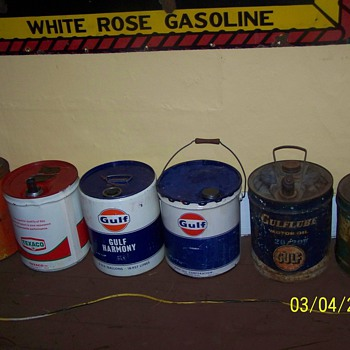 some 5 gallon cans - Petroliana