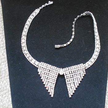Kramer of New York rhinestone necklace - Costume Jewelry